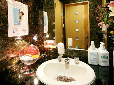 北インター歯科クリニックの洗面所