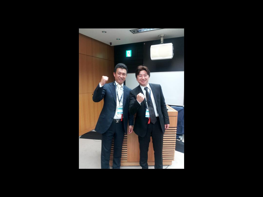 九州代表で同級生の田中憲一先生と