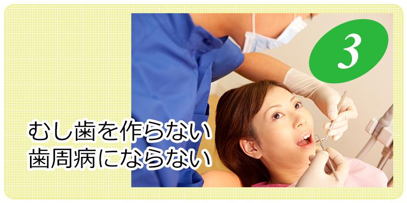 虫歯を作らない歯周病にならない