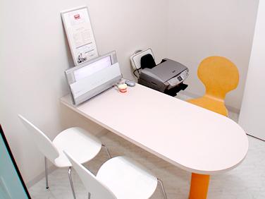 北インター歯科クリニックのカウンセリングルーム