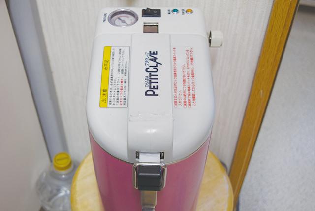 小型包装品用高圧蒸気滅菌器