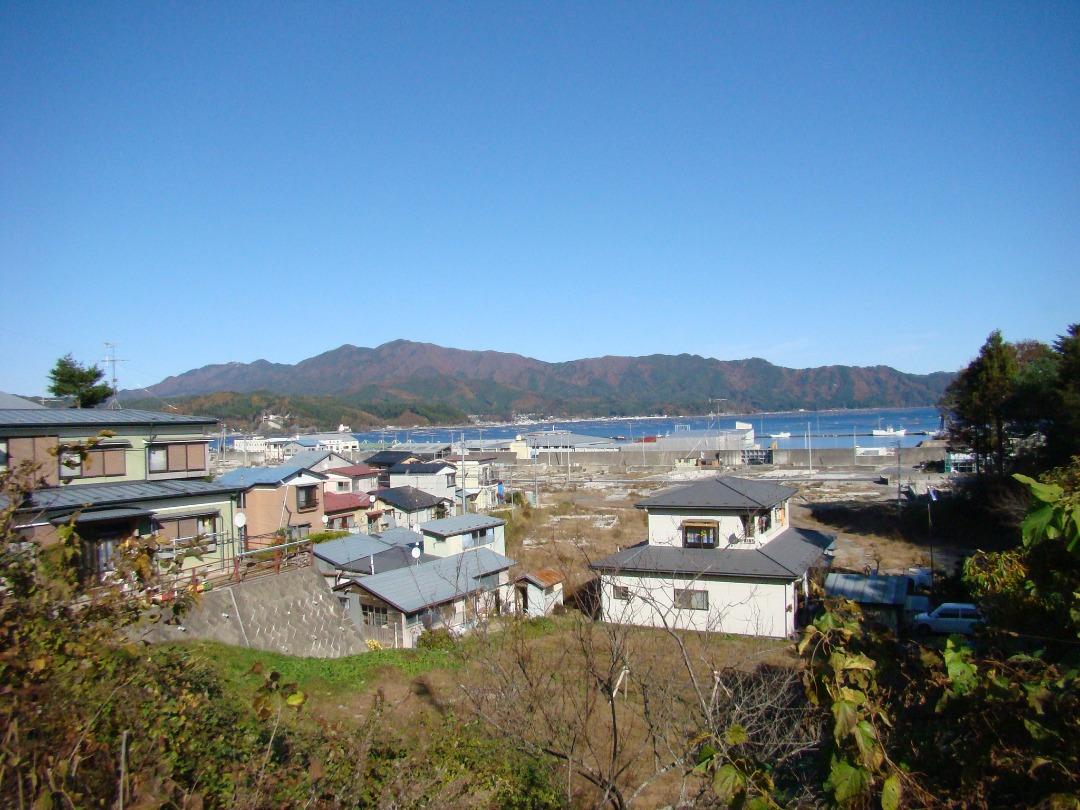 現在の仮診療所から見た山田町の景色