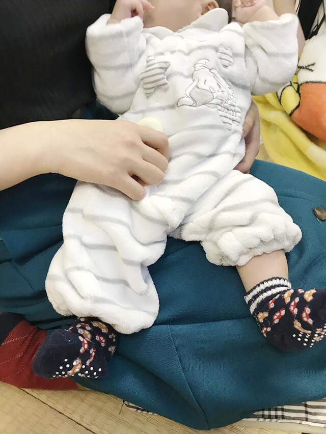 元スタッフが赤ちゃんを連れて、遊びに来てくれました。