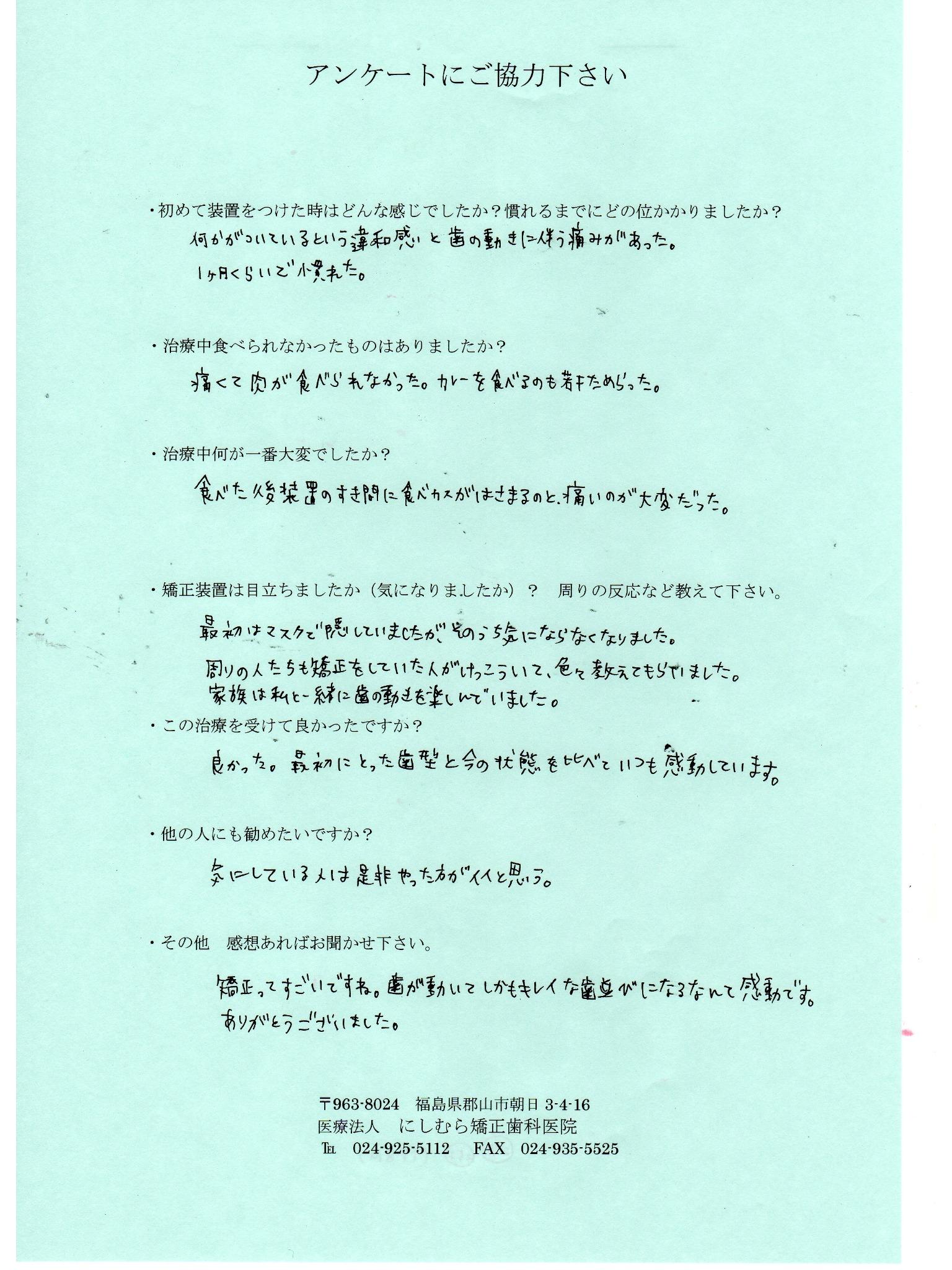 20代 患者様アンケート48