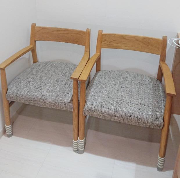 待合室の椅子の追加設置