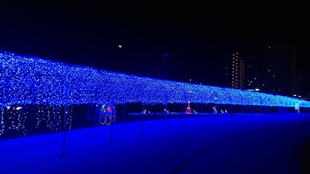多賀城駅前のイルミネーション2