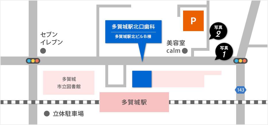 第一駐車場マップ