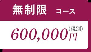 無制限コース600,000円(税別)
