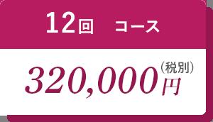 12回コース320,000円(税別)