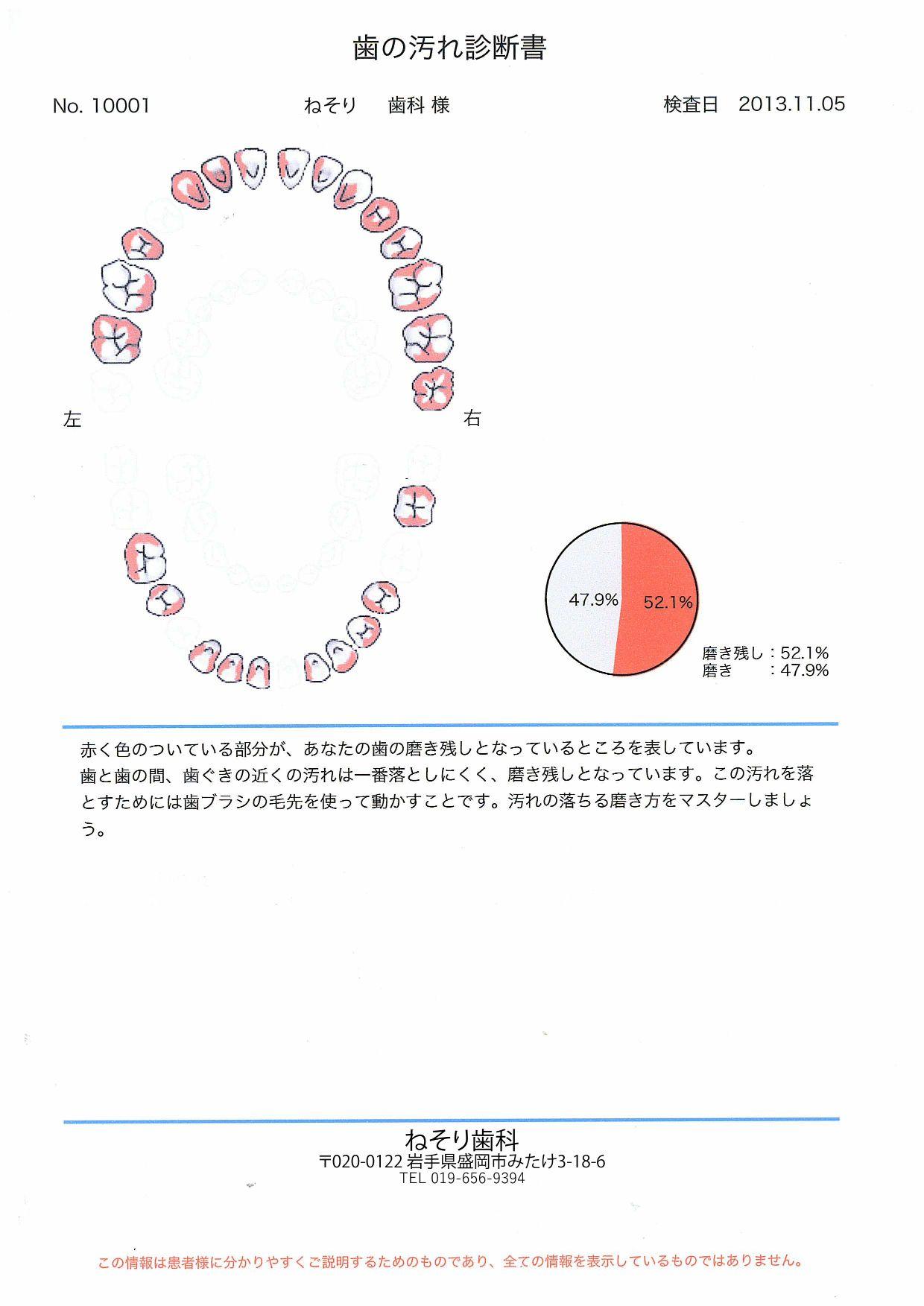 お口の健康手帳3