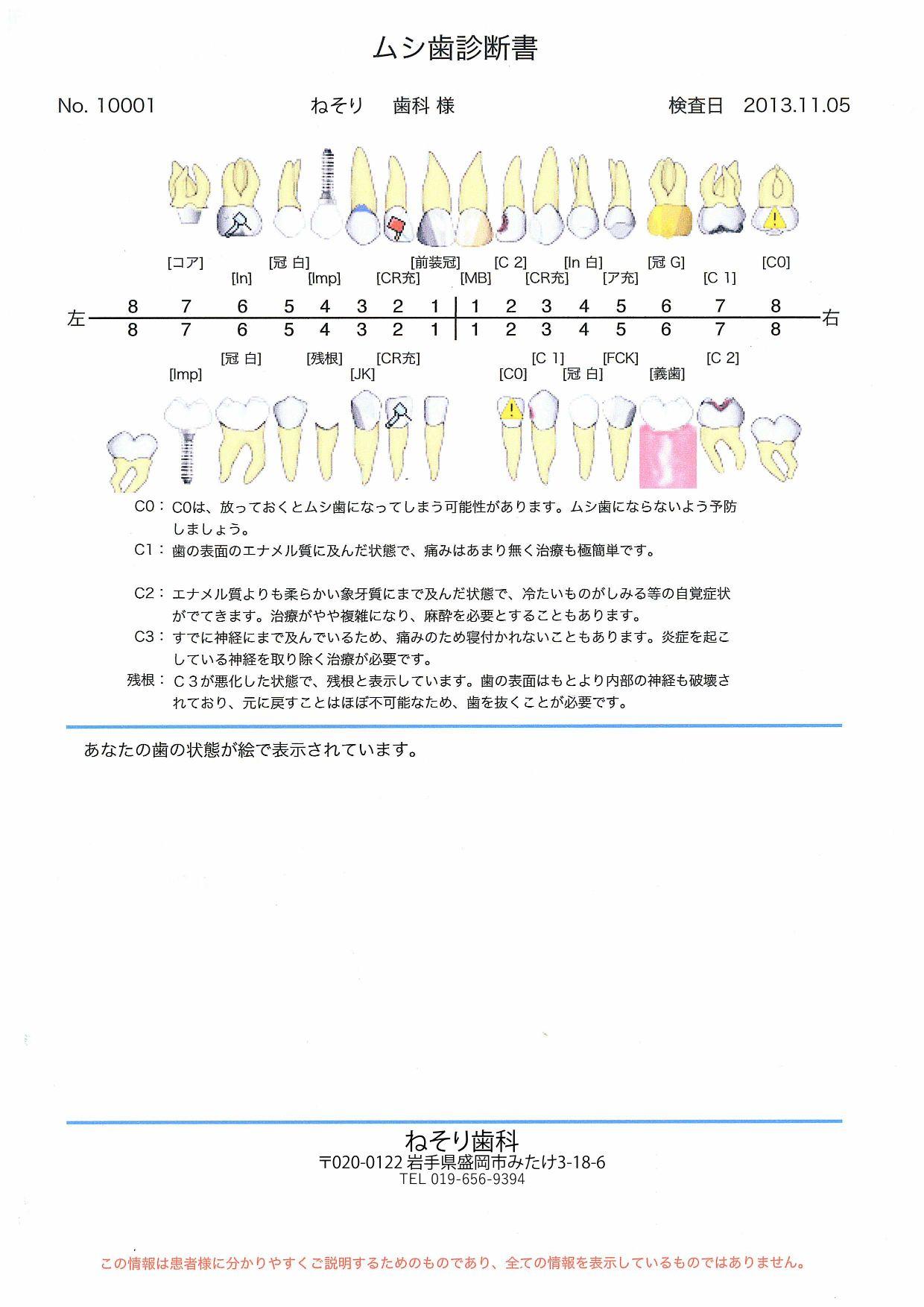 お口の健康手帳2