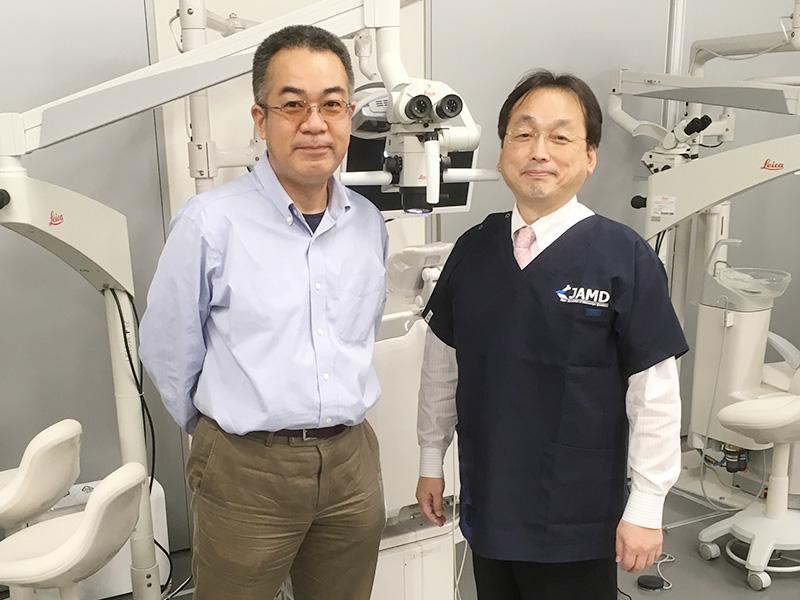 モリタ本社マイクロスコープセミナーにて 日大松戸辻本教授と(2017年12月大阪)