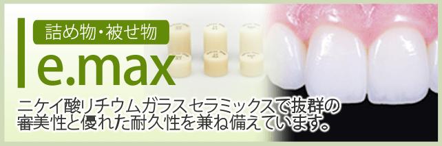 詰め物・被せ物 e.max